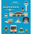 Thailand Transportation Objects Set vector image