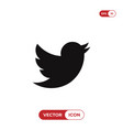 twitter bird logo icon social media symbol vector image vector image