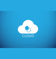 up and down arrows in cloud backup concept vector image