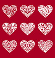 valentines heart lace heart valentines day vector image