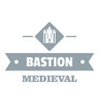 victorian bastion logo simple gray style vector image vector image