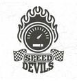 vintage motorbike and motorcycle sport emblem vector image vector image