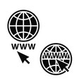 web icons set network sign template vector image vector image