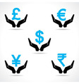 Save money concept vector image