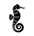sea horse icon black sign on vector image