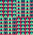vintage triangles seamless pattern vector image