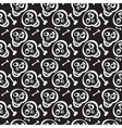 Hand drawn scull seamless pattern vector image