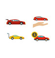 super car icon set flat style vector image