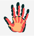 handprint of family palm of man woman and child vector image