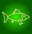 a fish icon vector image vector image