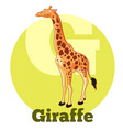 abc cartoon giraffe vector image vector image