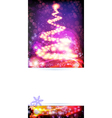 Abstract Christmas tree on a sparkling background vector image