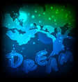 abstract tree being in dreams postcard with space vector image vector image