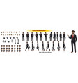 african businessman character model sheet vector image vector image