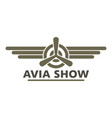 avia show icon logo flat style vector image