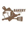 bakery shop isolated icon cooking tools or vector image