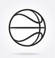 basketball outline simple line drawing vector image