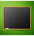 blackboard on the wall vector image vector image