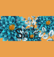 blue turquoise watercolor flowers background vector image