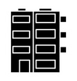 building apartment icon vector image