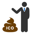 businessman show ico shit flat icon vector image vector image