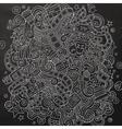 cartoon doodles cinema frame design vector image vector image