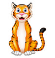 cartoon smiling tiger vector image