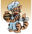 cat chef vector image vector image