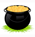 Cauldron with money vector image