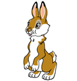 childish rabbit vector image vector image
