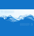clear blue water flow vector image vector image