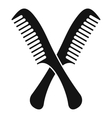 Combs icon simple style vector image vector image