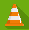 cone icon flat style vector image vector image
