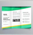 creative trifold brochure design template vector image vector image