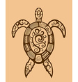 Ethnic ornamented turtle vector image