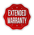 extended warranty label or sticker vector image vector image