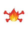 fire and bones logo for firemen flames and vector image vector image
