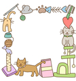 Frame of cat stuff vector image vector image