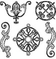 freehand drawing various decorative vintage vector image vector image