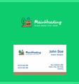 garden logo design with business card template vector image