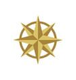 gold compass rose logo template design eps 10