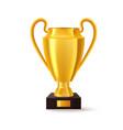 golden trophy for soccer winner cup for football vector image vector image