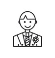 groom line icon sign on vector image vector image