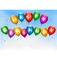 Happy birthday balloons Holiday background vector image vector image