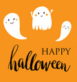 happy halloween lettering card vector image