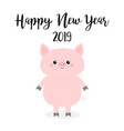 happy new year pink pig piggy piglet chinise vector image vector image