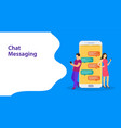 landing page template chat messaging vector image