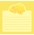 Lemon Memo Notes vector image vector image