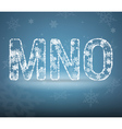 letters made from snowflakes vector image