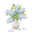 lilac in vase vector image vector image